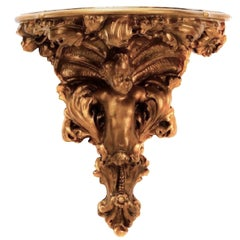 Monumental Carved Giltwood Baroque Wall Bracket