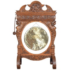 Monumental Carved Oak Dinner Gong