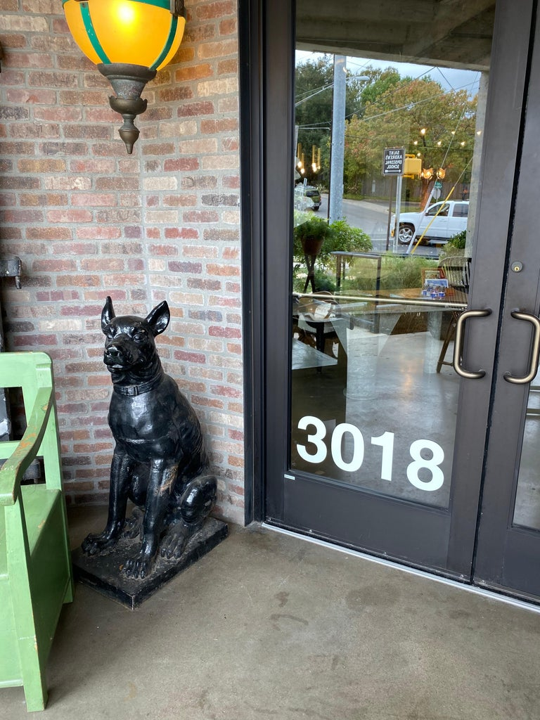 Monumental Cast Iron Dog Statues, 19th Century For Sale 7