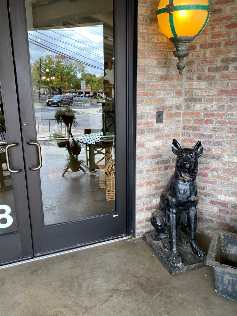 Monumental Cast Iron Dog Statues, 19th Century For Sale 8