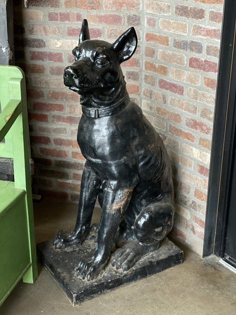 Monumental Cast Iron Dog Statues, 19th Century For Sale 1