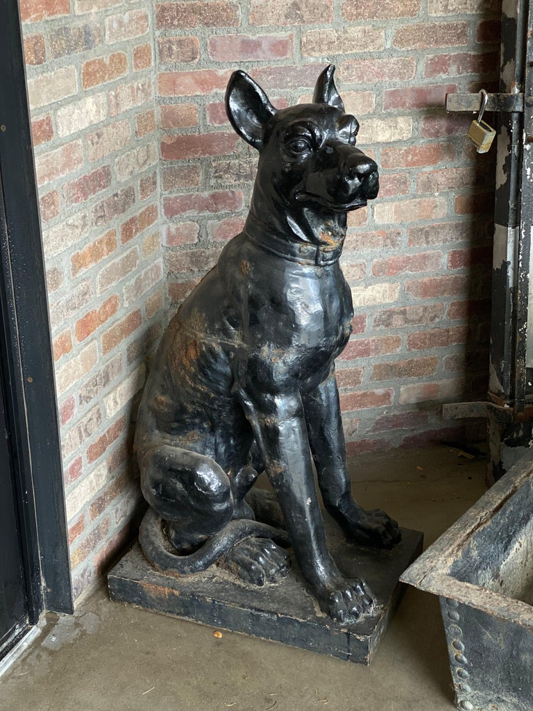 Monumental Cast Iron Dog Statues, 19th Century For Sale 2