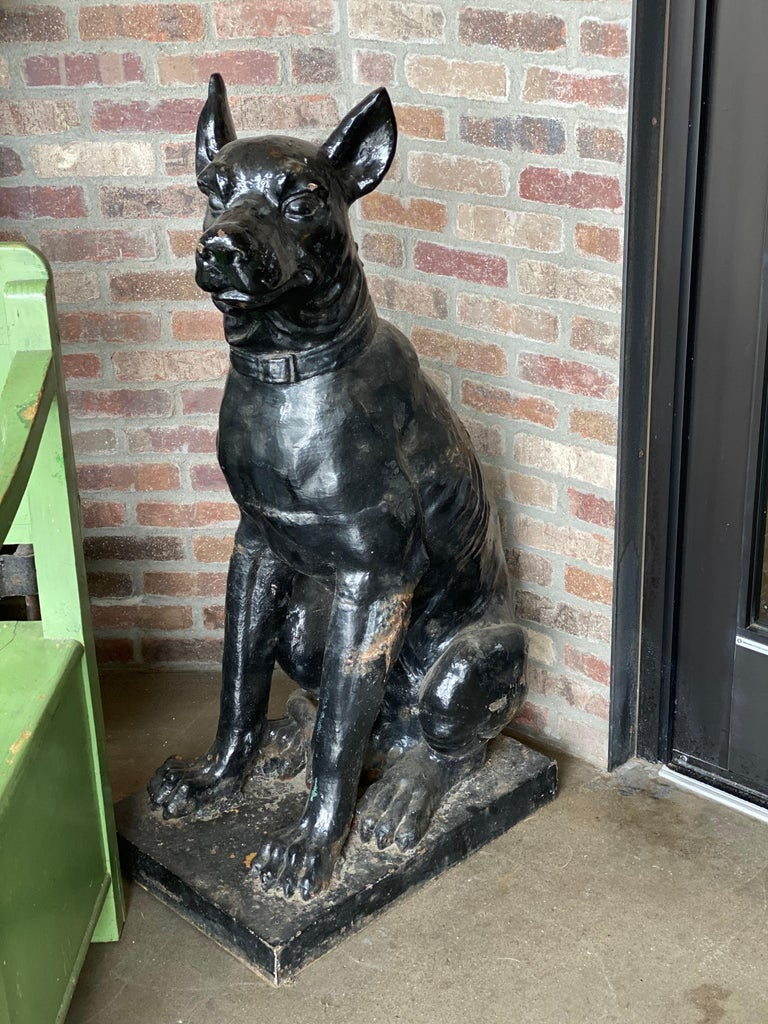 Monumental Cast Iron Dog Statues, 19th Century For Sale 3