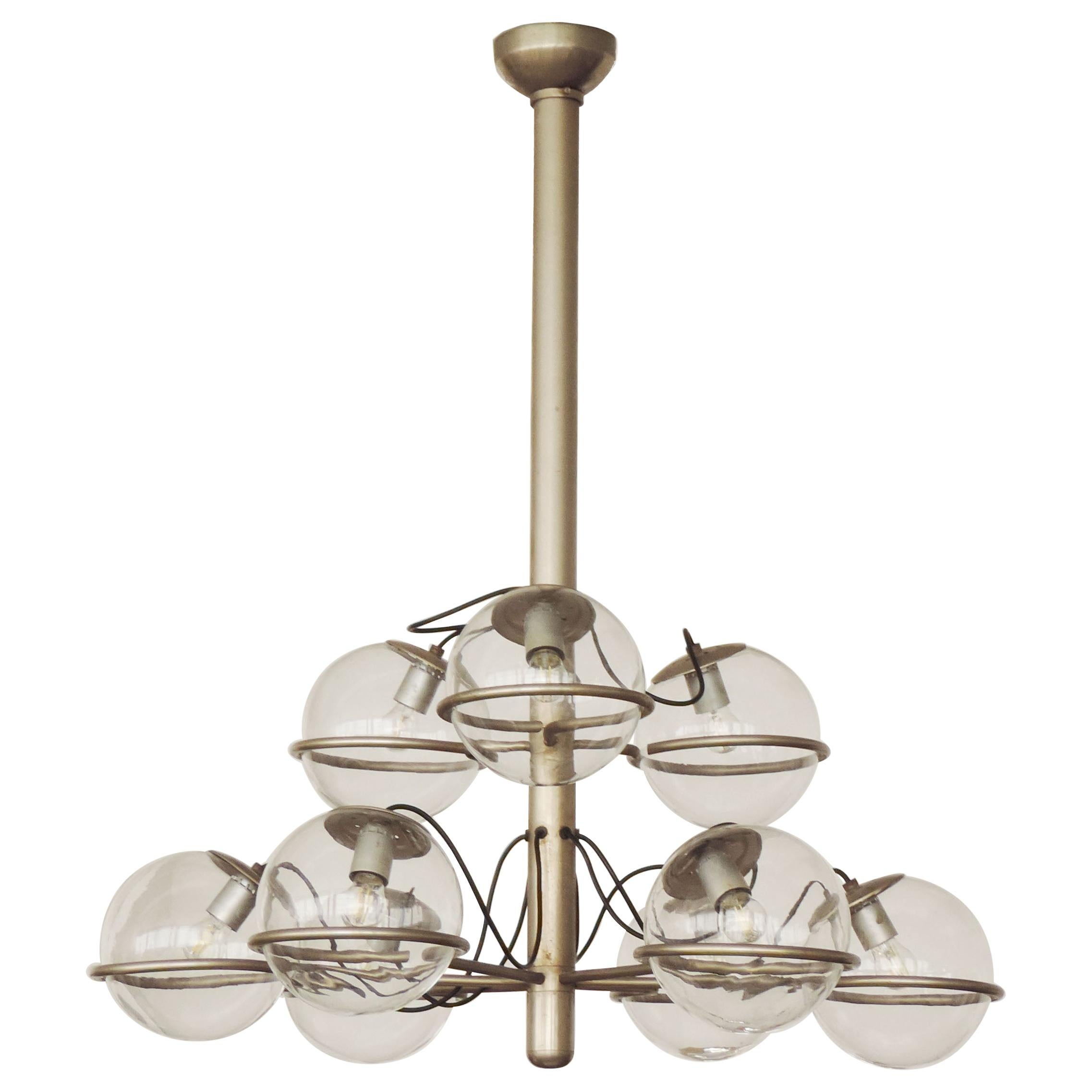 Monumental Ceiling Lamp Attributed to Gino Sarfatti, Italy, 1960s