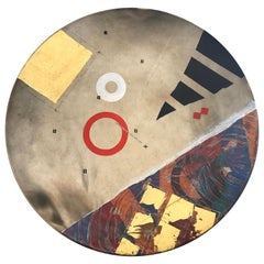 Monumental Ceramic Platter by Robert Carlson, Signed and Dated 1993