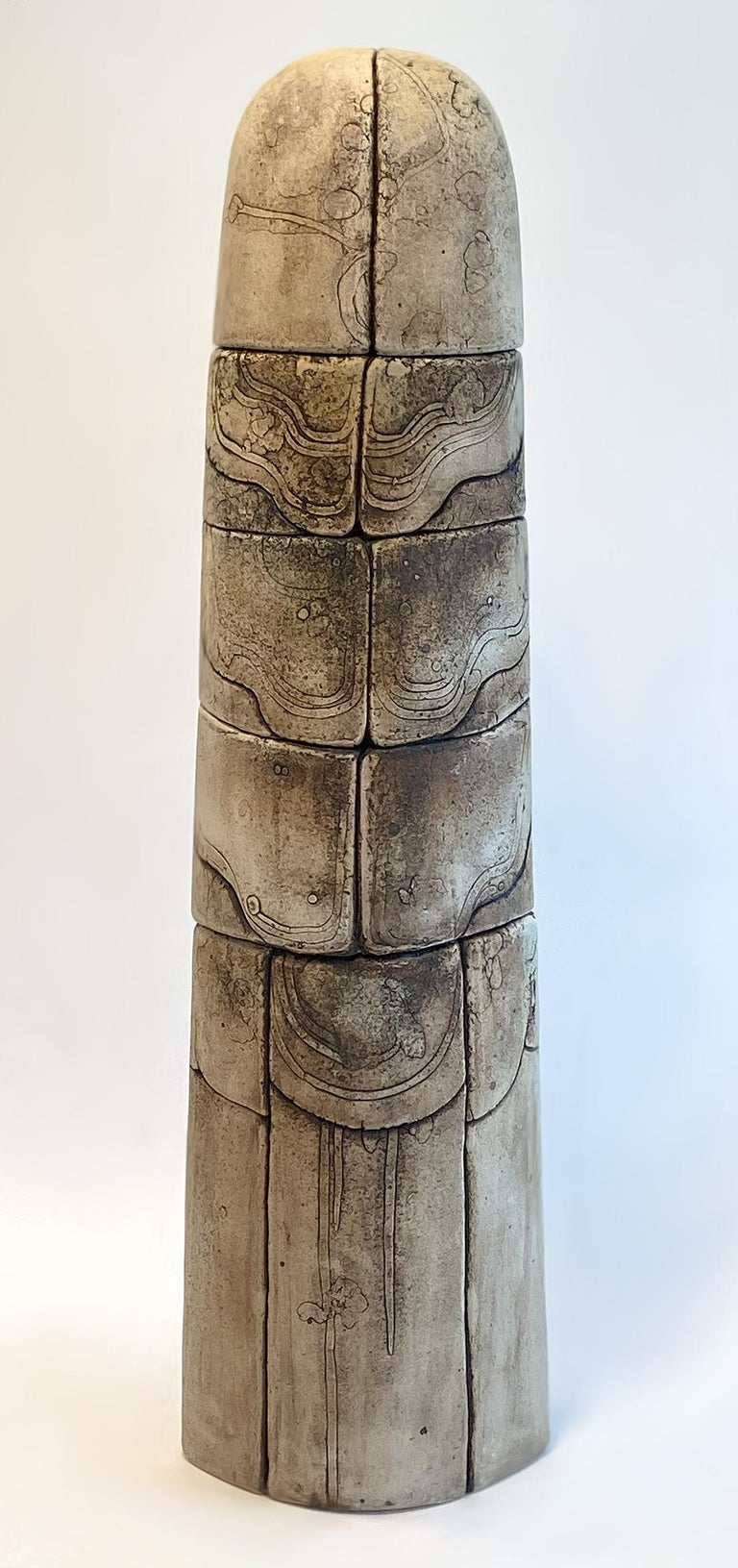 Modern Monumental Ceramic Pottery Sculpture by Antoine de Vinck, France, 1970s For Sale