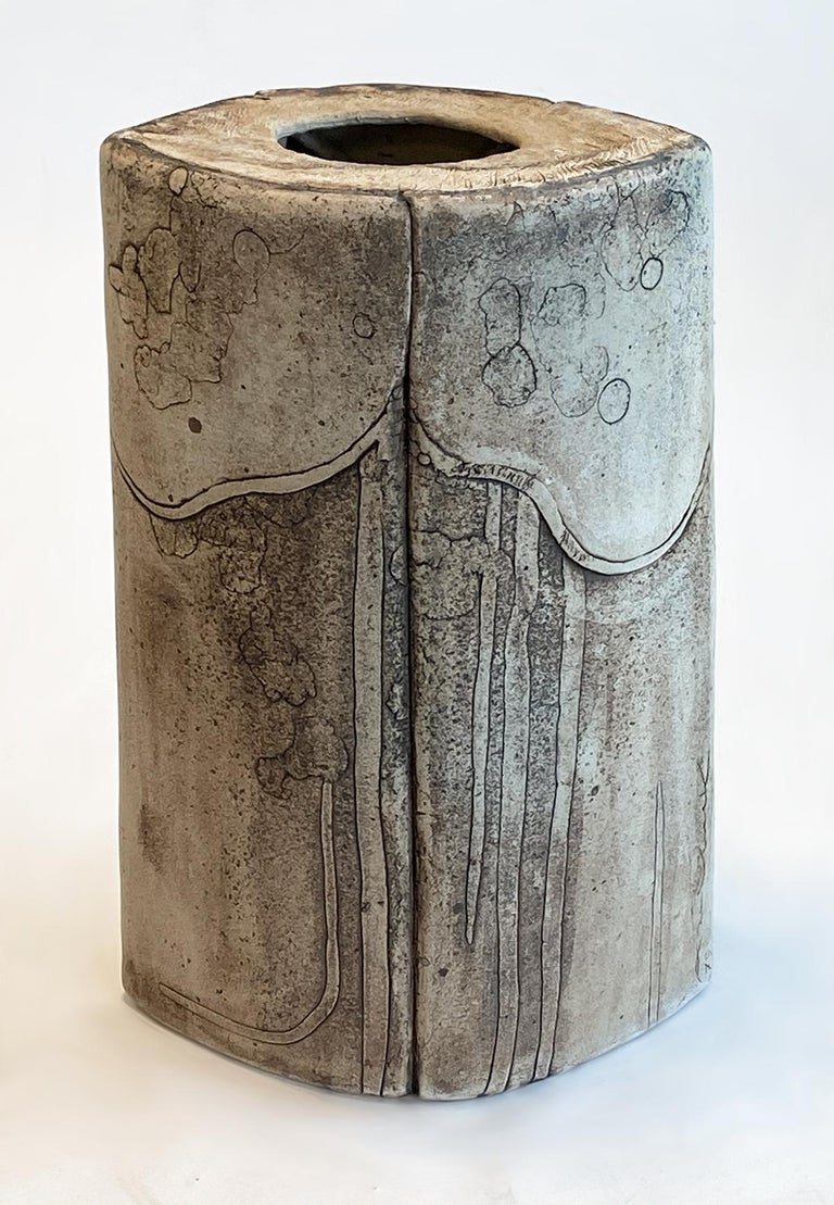 Monumental Ceramic Pottery Sculpture by Antoine de Vinck, France, 1970s In Good Condition For Sale In Ft Lauderdale, FL