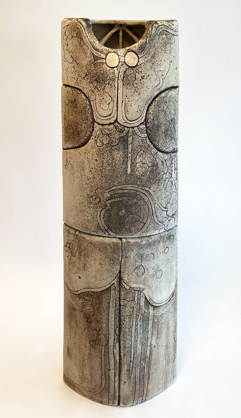 Late 20th Century Monumental Ceramic Pottery Sculpture by Antoine de Vinck, France, 1970s For Sale
