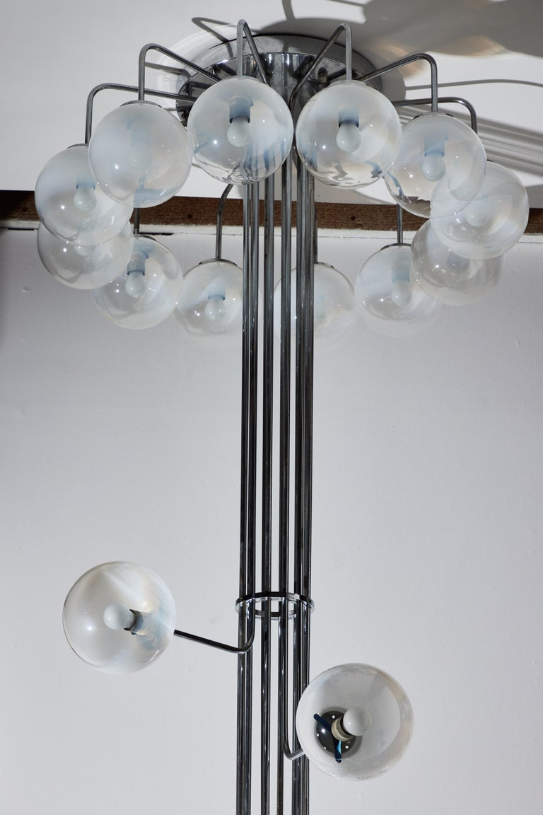 Rare Monumental Chandelier by Angelo Mangiarotti for Candle For Sale 4