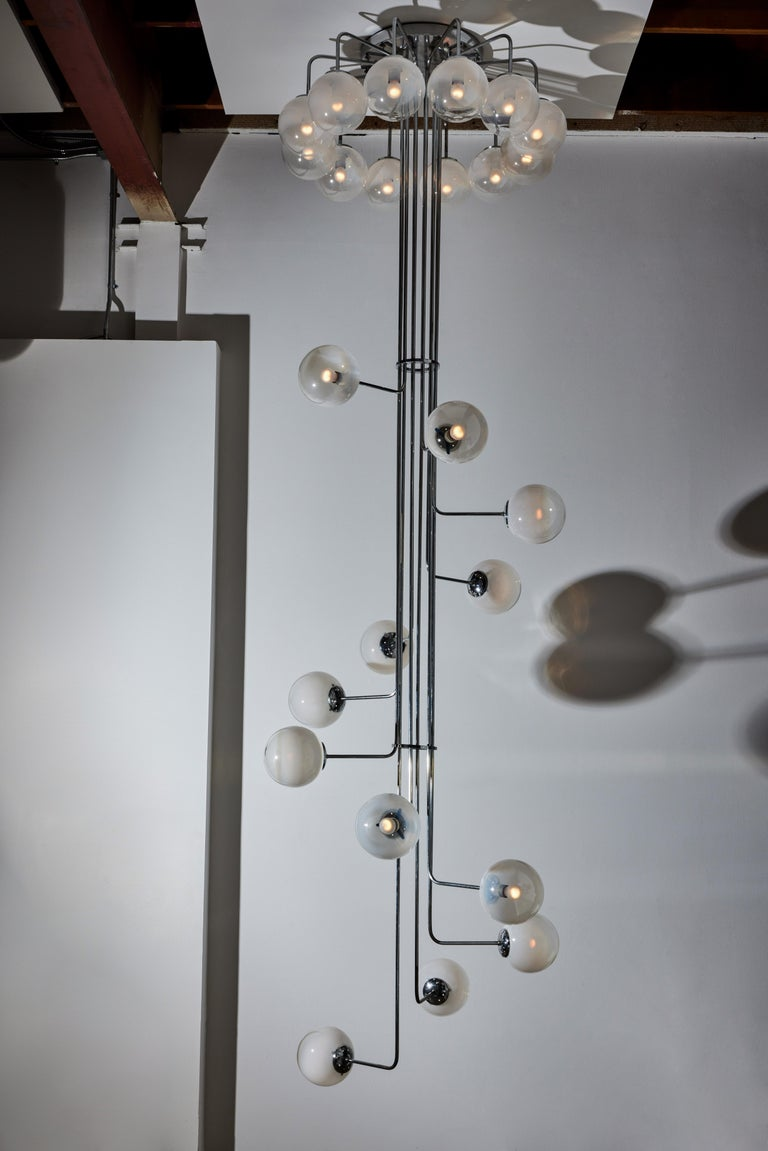Rare Monumental Chandelier by Angelo Mangiarotti for Candle In Good Condition For Sale In Los Angeles, CA