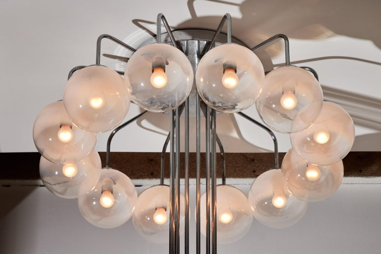 Rare Monumental Chandelier by Angelo Mangiarotti for Candle For Sale 2