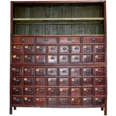 "Monumental Chinese Apothecary Chest, 87"" Tall with 52 Drawers"