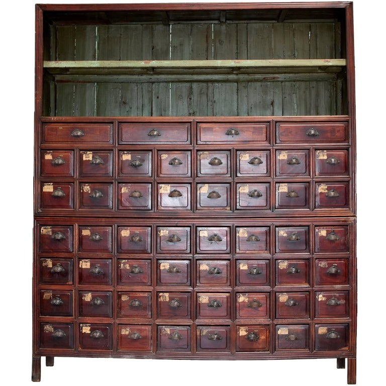 Amazing Monumental Chinese Apothecary Chest 87 Tall With 52 Drawers Interior Design Ideas Clesiryabchikinfo