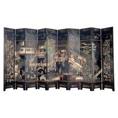 Monumental Chinese Coromandel Kuancai Screen