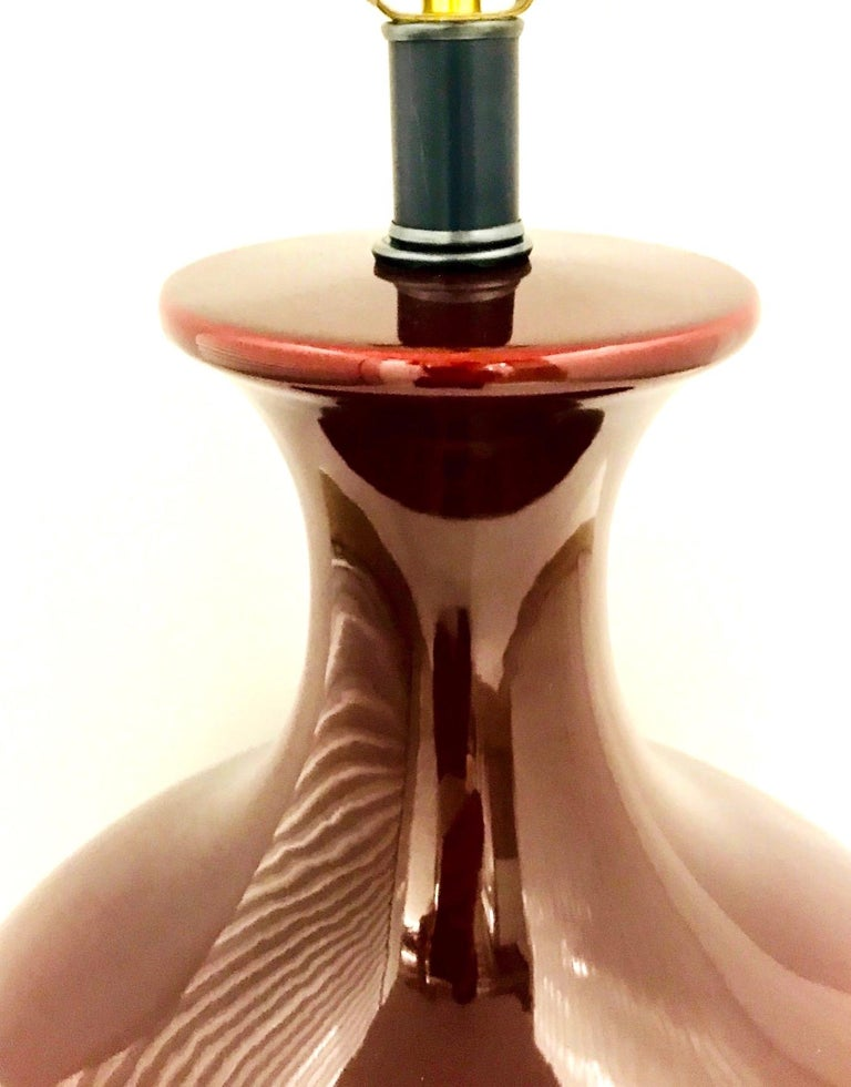 Monumental Chinese Oxblood Porcelain Lamp by Marbro, 1970s For Sale 5