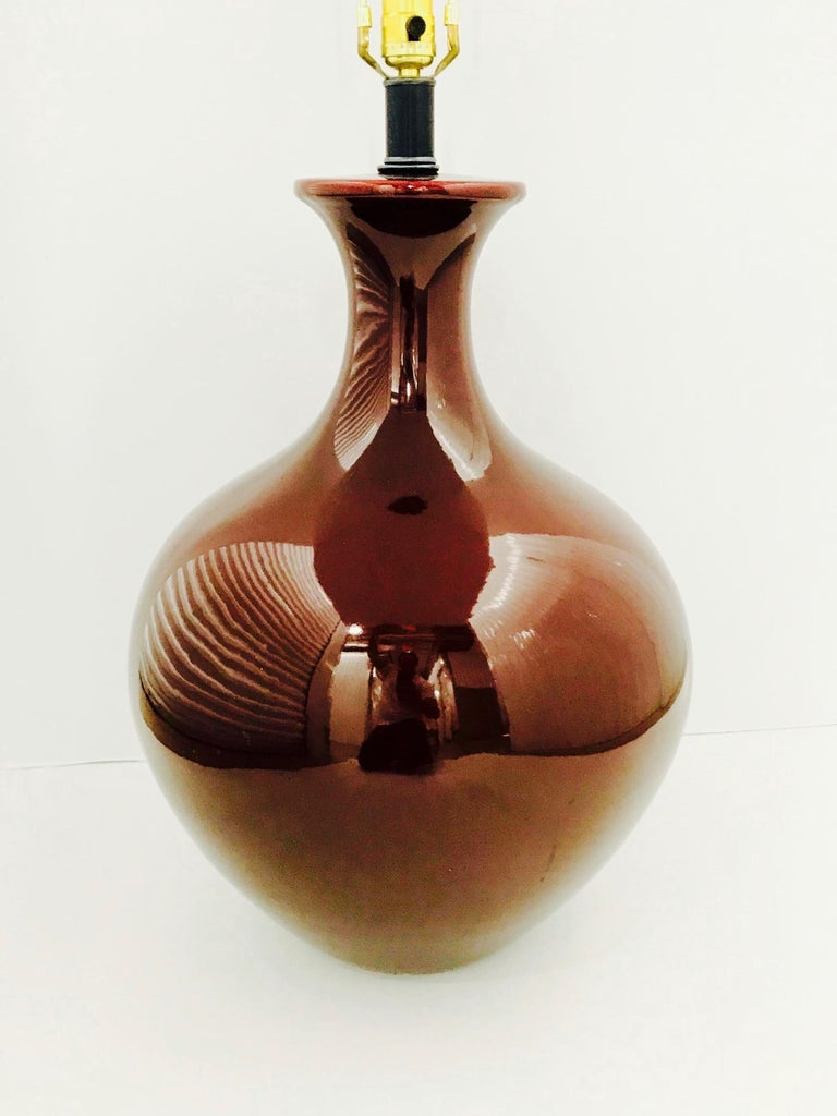Monumental Chinese Oxblood Porcelain Lamp by Marbro, 1970s For Sale 6