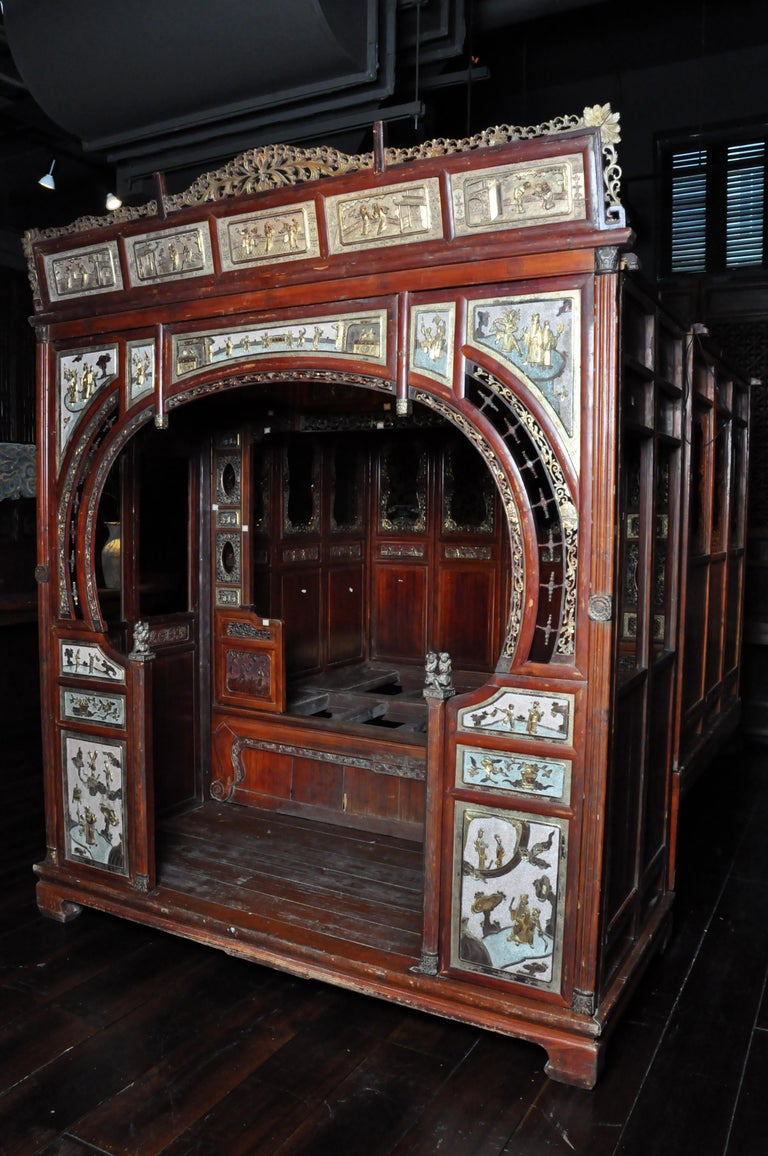 Monumental Chinese Wedding Bed 6
