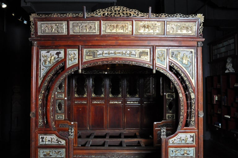 Monumental Chinese Wedding Bed 7