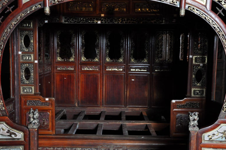 Monumental Chinese Wedding Bed 9