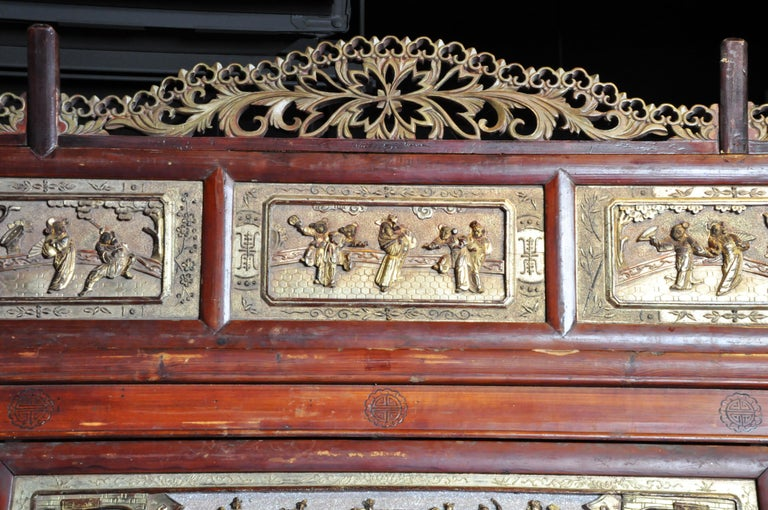 Monumental Chinese Wedding Bed 12