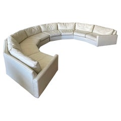 Monumental Circular Curved Midcentury Sofa Sectional by Selig Monroe White