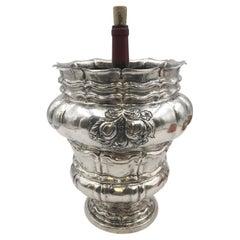 Monumental Continental Silver Wine Cooler / Vase