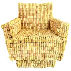 Monumental Cork Sculptural Armchair