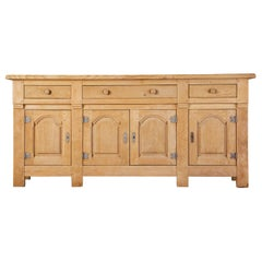 Monumental Country French Oak Sideboard Server of Buffet