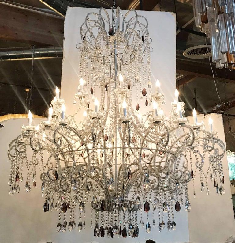 Italian Monumental Crystal Chandelier For Sale
