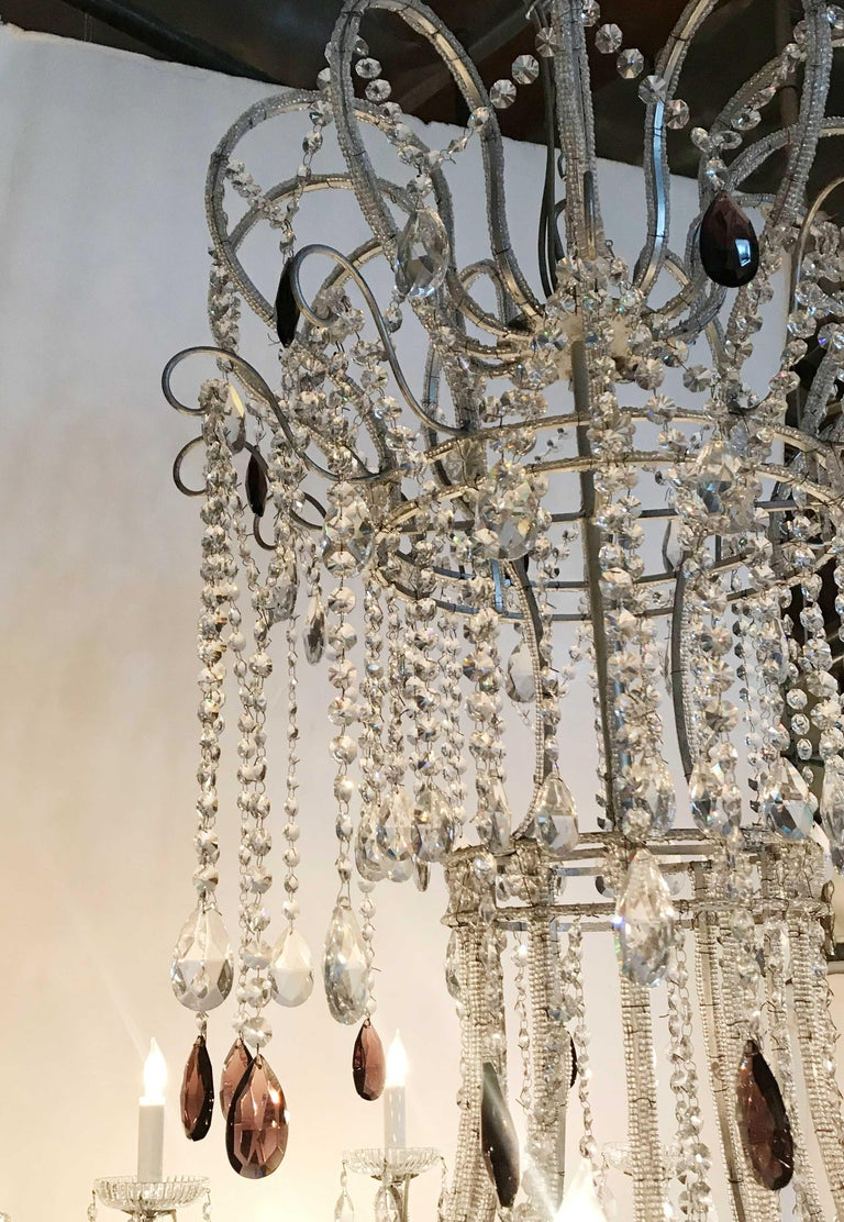 20th Century Monumental Crystal Chandelier For Sale