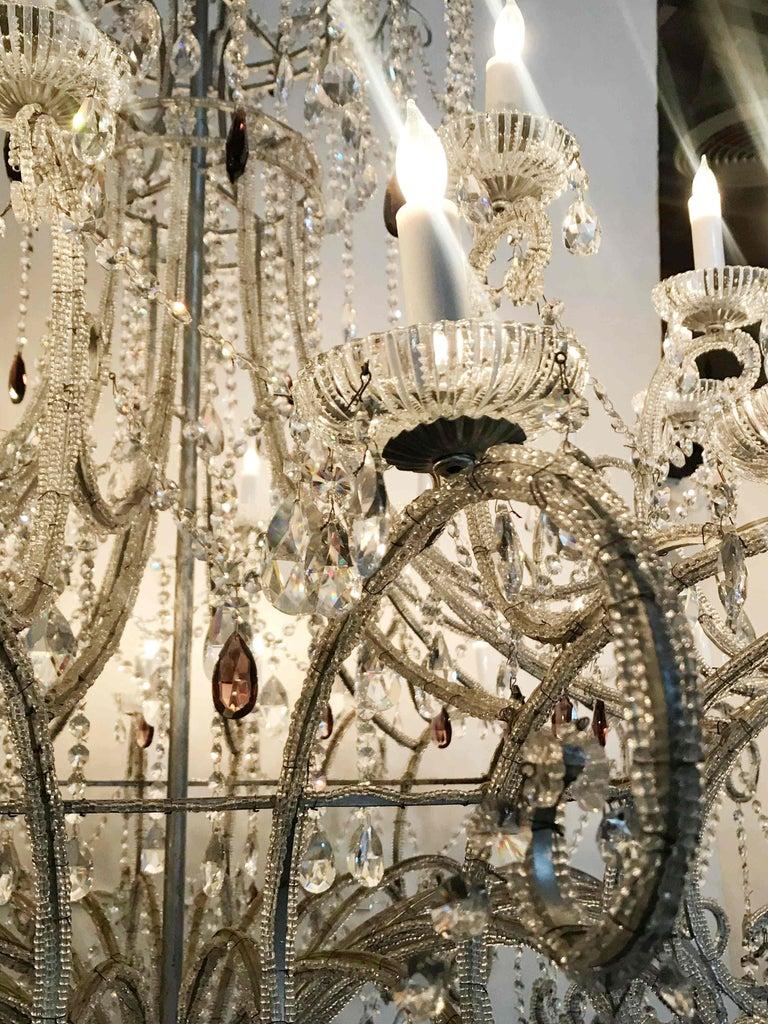 Monumental Crystal Chandelier For Sale 1