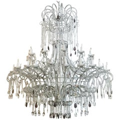 Monumental Crystal Chandelier