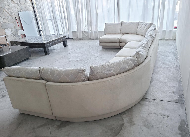Monumental Curved Modular Sectional Sofa by Directional In Fair Condition For Sale In Las Vegas, NV