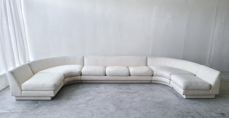 20th Century Monumental Curved Modular Sectional Sofa by Directional For Sale