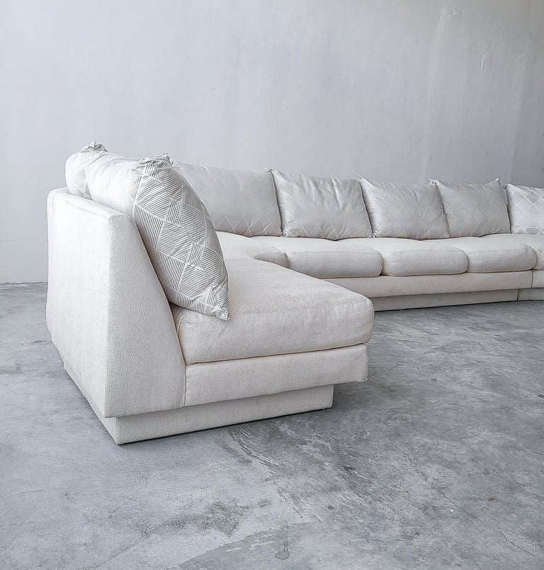 Monumental Curved Modular Sectional Sofa by Directional For Sale 1