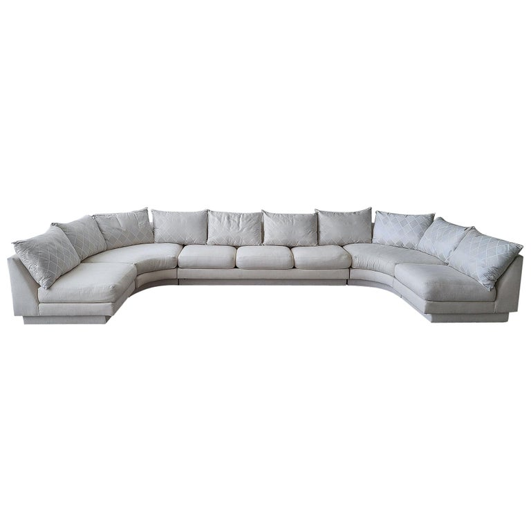 Monumental Curved Modular Sectional Sofa by Directional For Sale