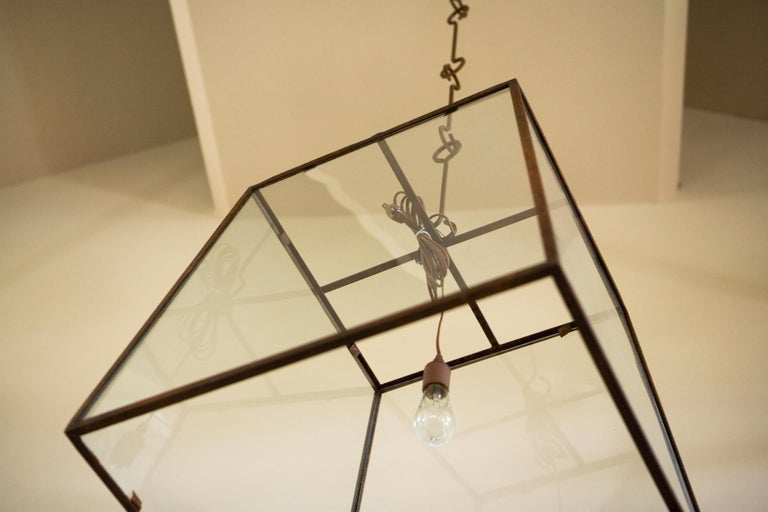 Hand-Crafted Monumental Custom American Iron and Glass