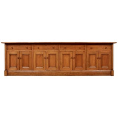Monumental Custom French Style Pine Sideboard Server