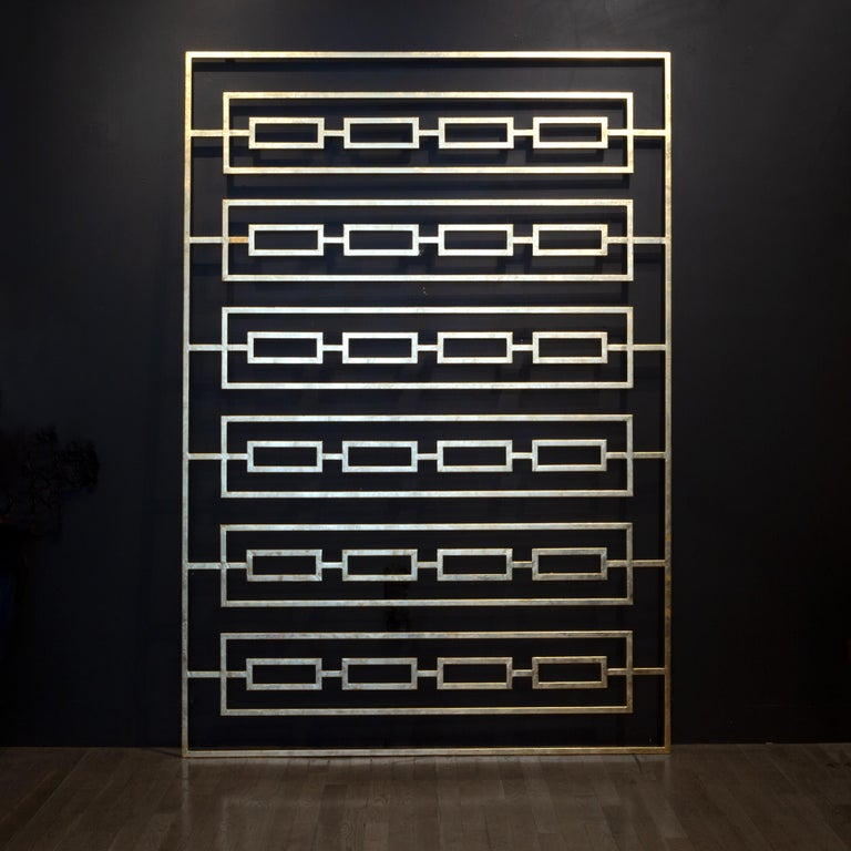 Monumental Custom Steel Gilded Room Screen/Wall Sculpture, circa 2014 In Good Condition For Sale In San Francisco, CA