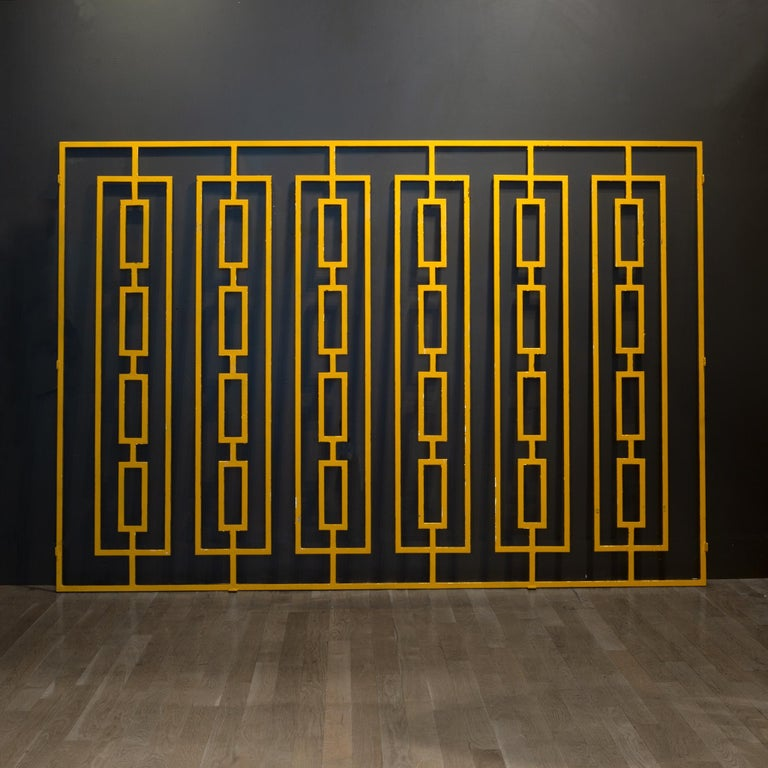 Monumental Custom Steel Gilded Room Screen/Wall Sculpture, circa 2014 For Sale 1