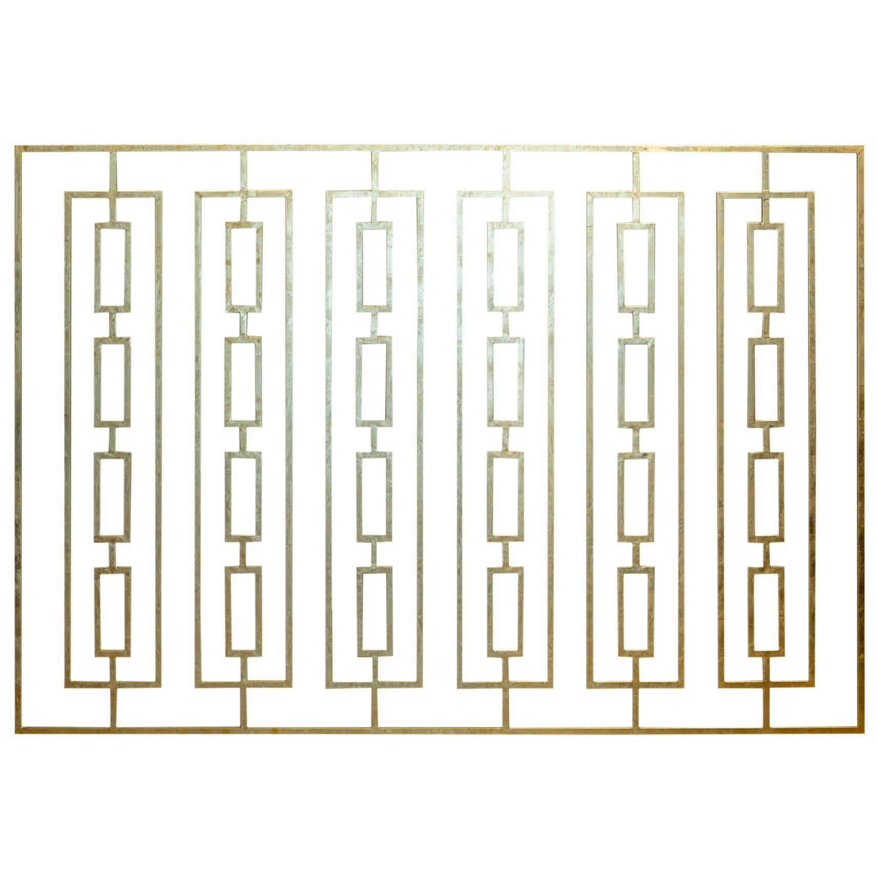 Monumental Custom Steel Gilded Room Screen/Wall Sculpture, circa 2014