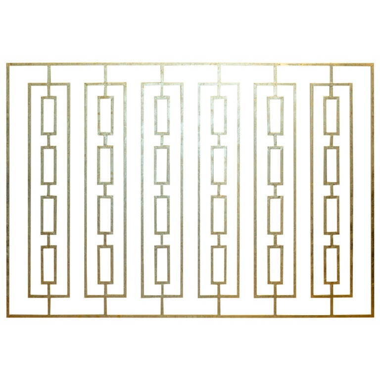Monumental Custom Steel Gilded Room Screen/Wall Sculpture, circa 2014 For Sale