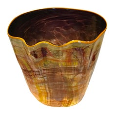 Monumental Dale Chihuly Sculptural Cylinder Vessel Signed and Dated 1987