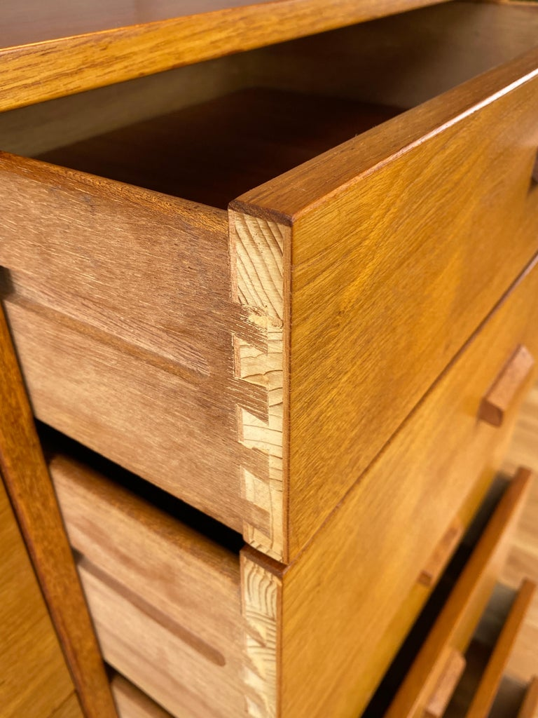 Monumental Danish 12 Drawers, Chest of Drawers in Teak, Circa 1970s For Sale 5