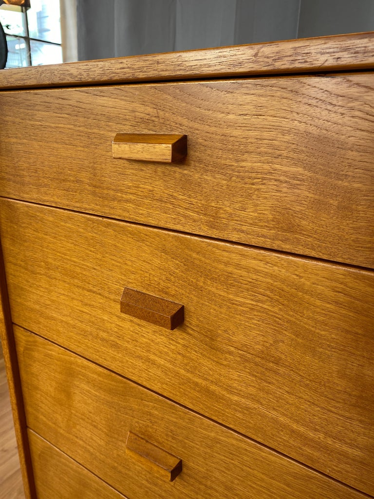 Monumental Danish 12 Drawers, Chest of Drawers in Teak, Circa 1970s For Sale 6