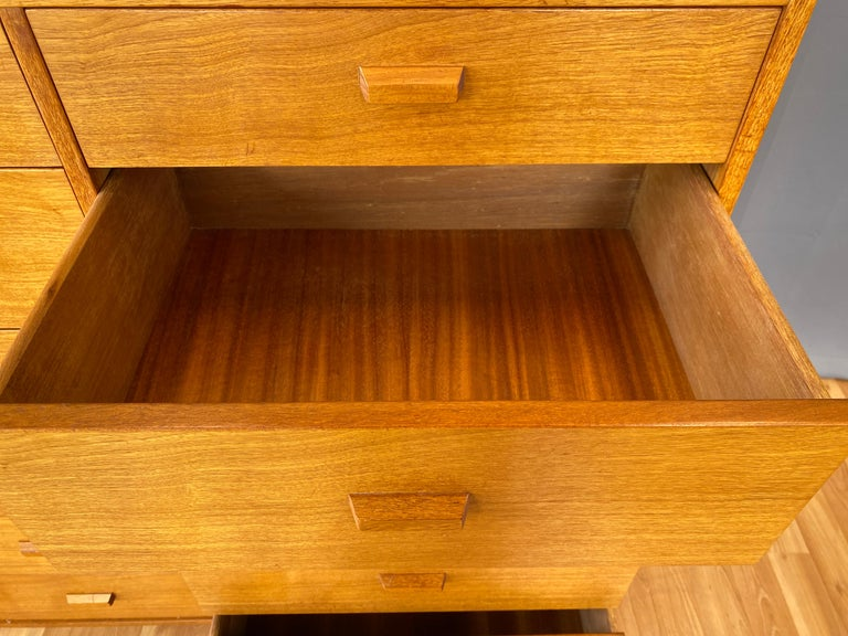 Monumental Danish 12 Drawers, Chest of Drawers in Teak, Circa 1970s For Sale 7