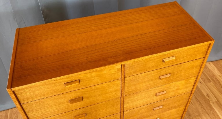 Monumental Danish 12 Drawers, Chest of Drawers in Teak, Circa 1970s For Sale 9