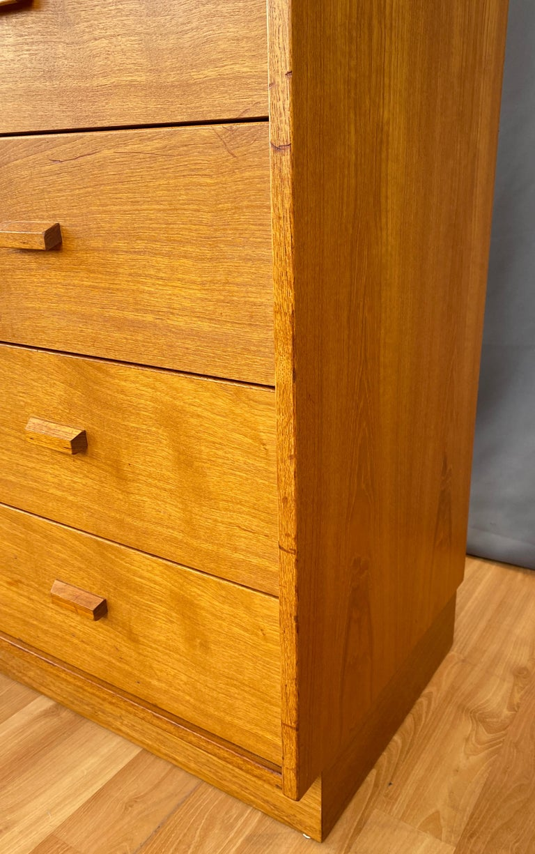 Monumental Danish 12 Drawers, Chest of Drawers in Teak, Circa 1970s For Sale 10