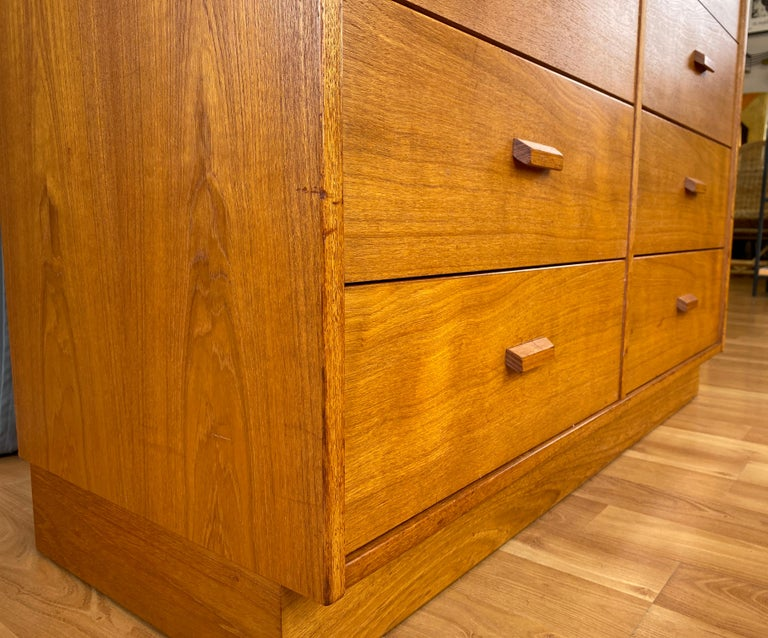 Monumental Danish 12 Drawers, Chest of Drawers in Teak, Circa 1970s For Sale 11