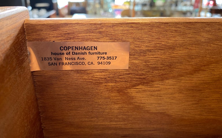 Monumental Danish 12 Drawers, Chest of Drawers in Teak, Circa 1970s For Sale 14